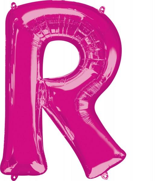 Folienballon Buchstabe R pink XL 81cm