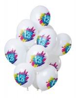 18.Geburtstag 12 Latexballons Color Splash