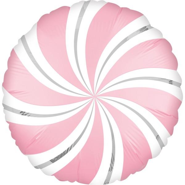 Ballon aluminium sucette rose clair 45cm