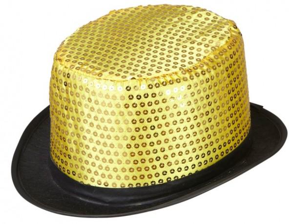 Goldener Pailletten Zylinder