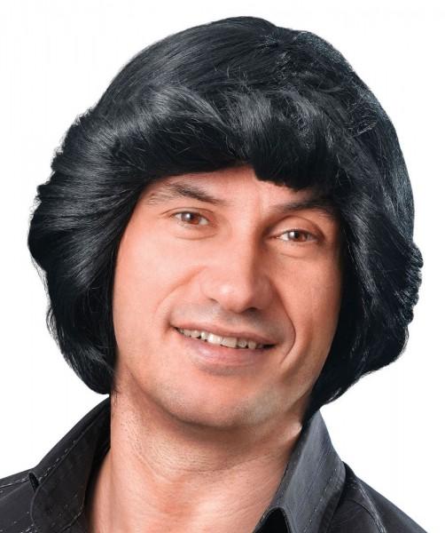 Perruque Gerdo des années 70 en noir