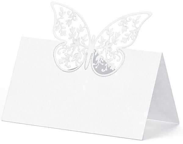 10 place cards with butterfly