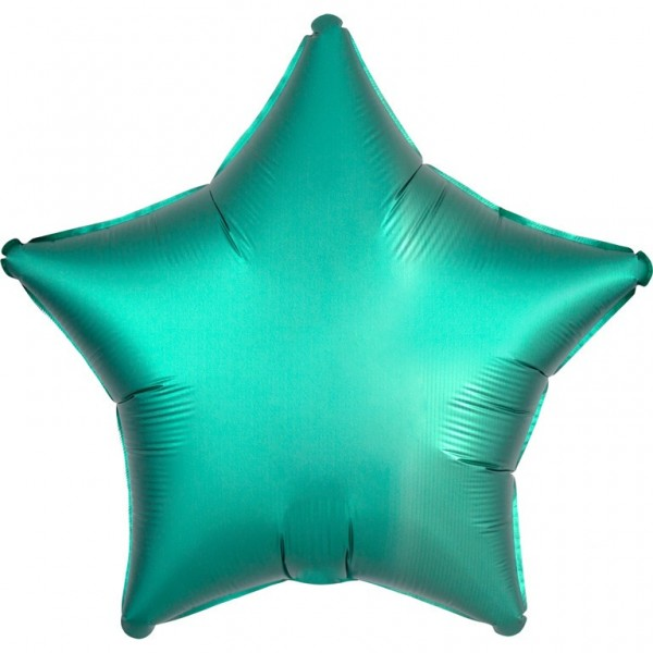 Shiny green star foil balloon 43cm