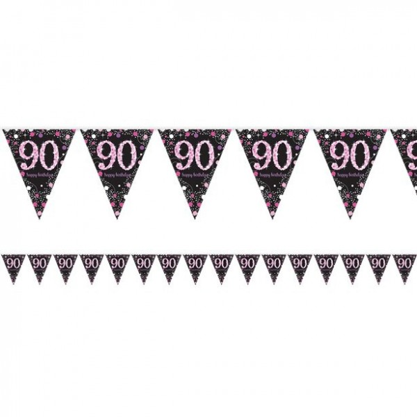Pink Dots 90. Geburtstag Girlande 4m