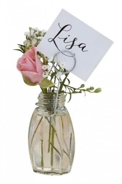 4 marque-places de mariage Landliebe vases
