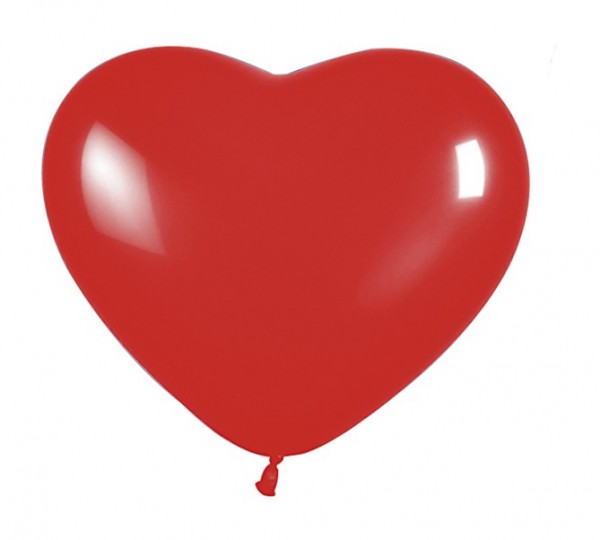 5 big love heart balloons red 30cm