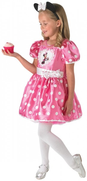 Dotted Minnie Mouse kids costume in pink
