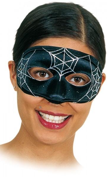 Zwart Oogmasker Met Spinnewebpatroon