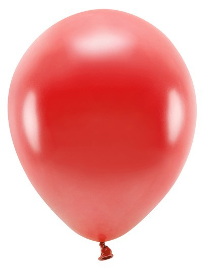 10 ballons Eco métalliques rouges 26cm
