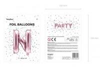 Vorschau: Folienballon N roségold 35cm