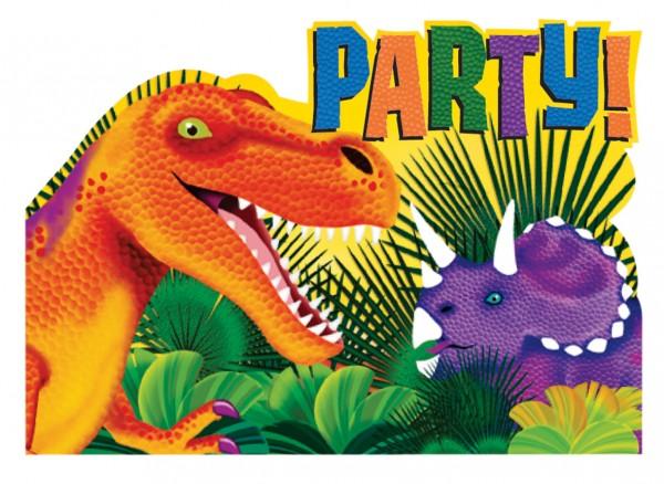 Dino Einladungskarte Urzeit Giganten