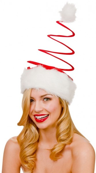 Plüschige Spiral Weihnachtsmütze