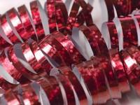 1 Rolle Glitzernde Luftschlangen Rot
