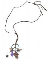 Peace & Hippie Love Halskette