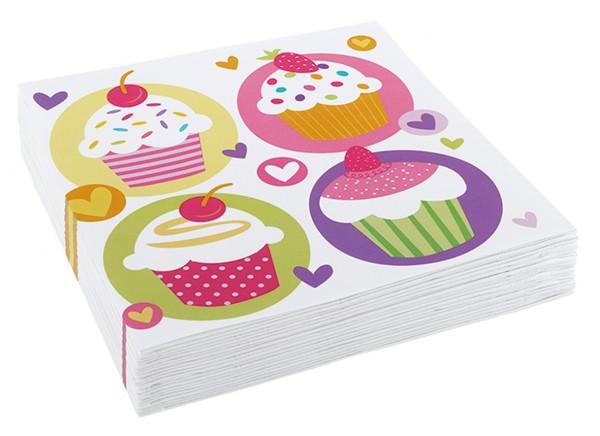 Tovagliolo cupcake colorato Sweet Birthday 20 pezzi
