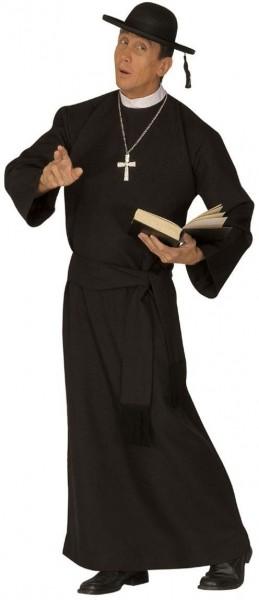 Costume nero sacerdote spirituale
