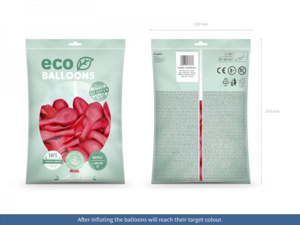 100 Eco pastel balloons coral 26cm