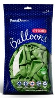 100 Partystar metallic Ballons apfelgrün 12cm