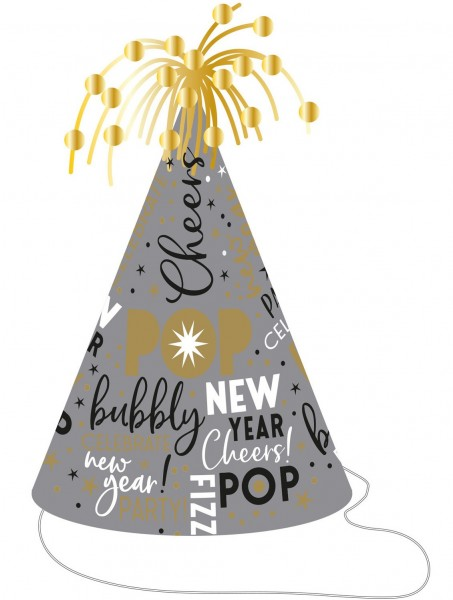 Bubbly New Year Parythut 23,5cm