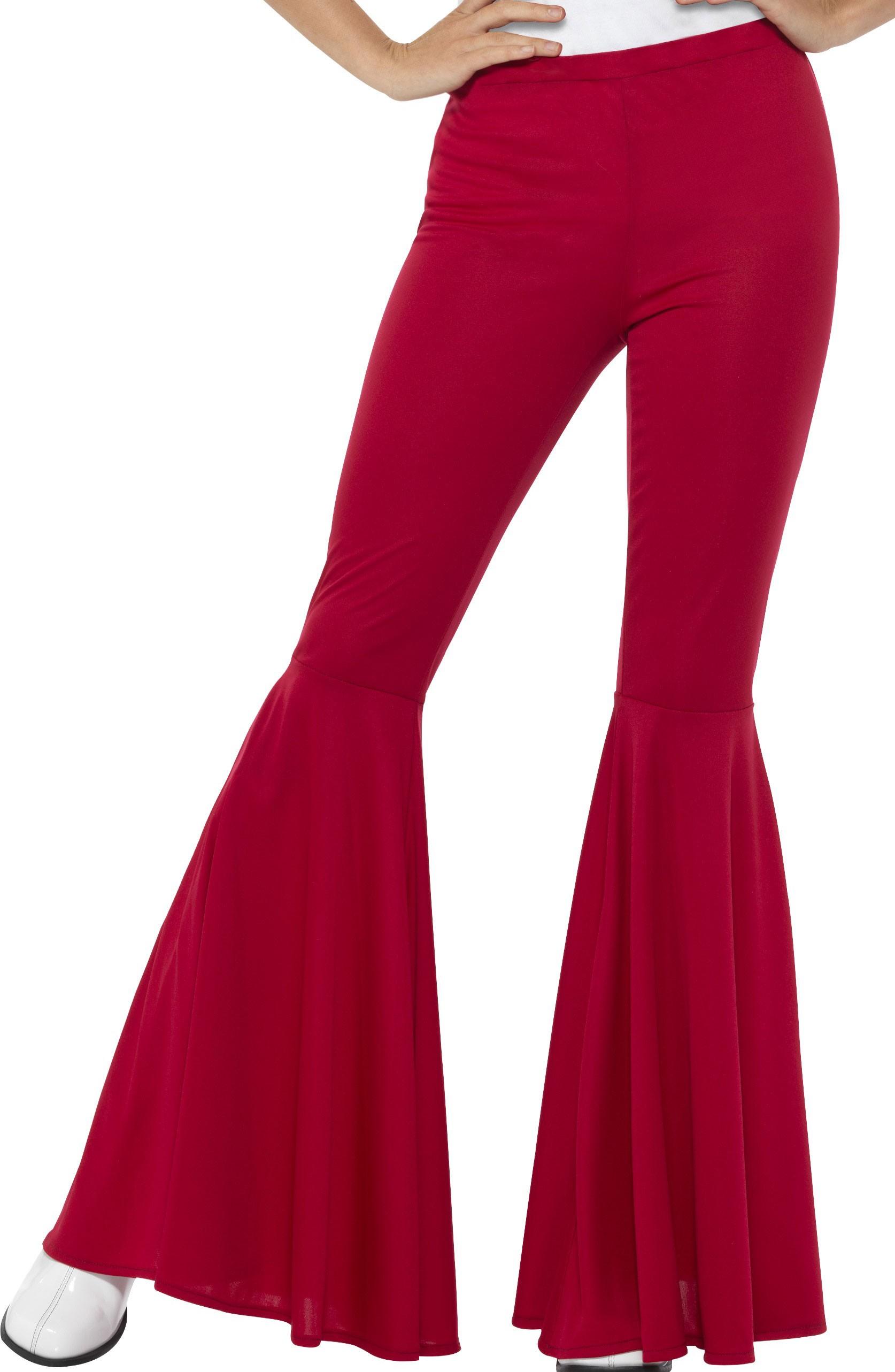 Suche nach Beamten Einzelhandelspreise schönen Glanz Damen 70er Jahre Schlaghose Rot
