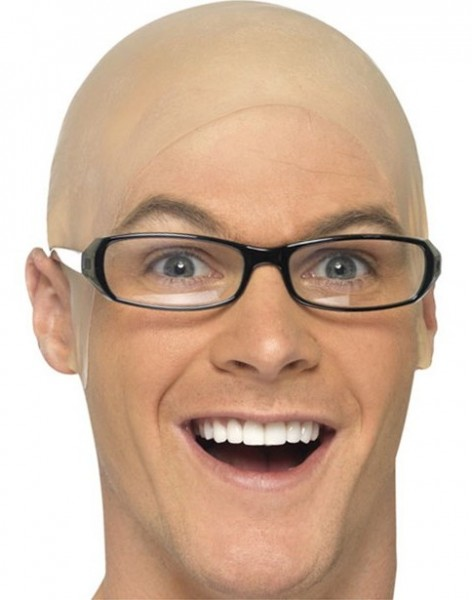 Hautfarbene Latex Glatzen Kappe