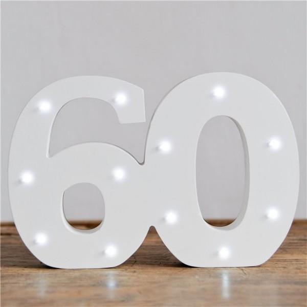 Lichtgevend nummer 60 display