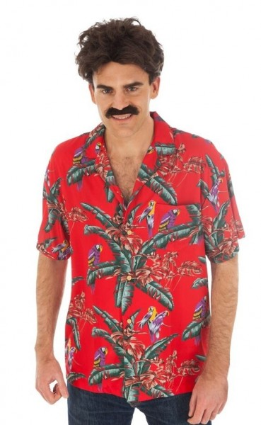 Koszula męska Magnum z lat 80-tych czerwona