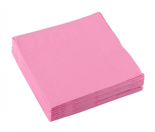 20 serviettes Mila rose clair 25cm