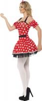 Rotes Pünktchen Minikleid Carmen