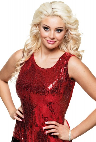 Red Roxi sequin top