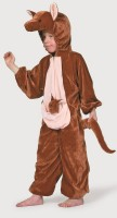 Brauner Känguru Plüschoverall