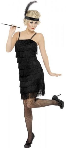 Golden 20s Flapper Girl Kostüm Für Damen Schwarz 1