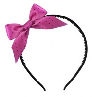 Haarreif mit pink gepunkteter Schleife