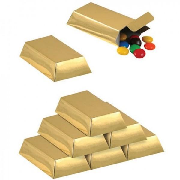 12 coffrets cadeaux dorés 8 x 4cm