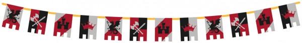 Caballero de la mesa redonda banderín cadena 400cm