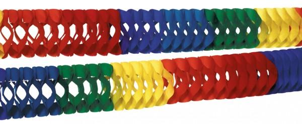2 guirnaldas de colores arcoíris de 7 cm x 2,5 m