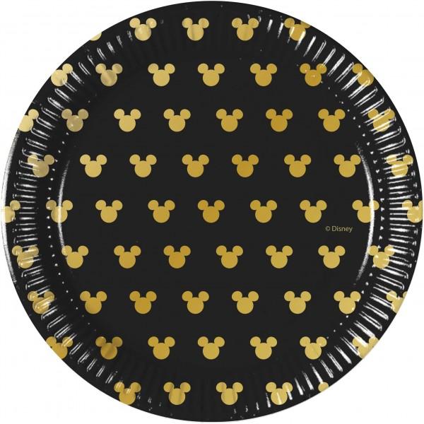 8 Mickey Mouse Goldstar Teller 20cm