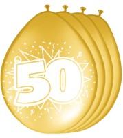 8 Goldene 50. Geburtstag Ballons