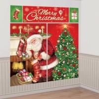 Merry Christmas Wandkulisse 5-teilig