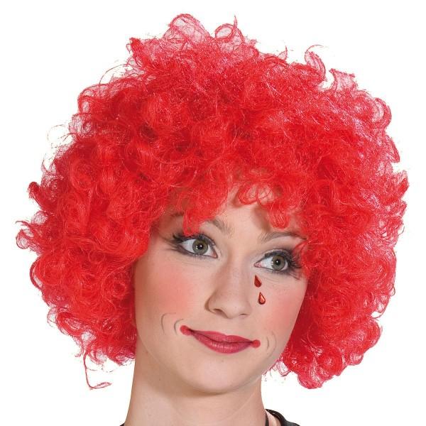 Lockige Clowns Perücke Rot