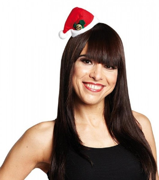Mini gorro navideño con campana