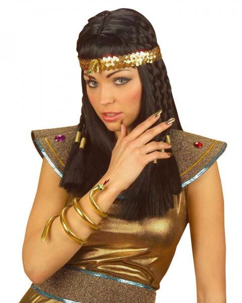 Ägyptisches Pailletten Stirnband Mit Schlange
