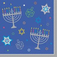 36 Happy Hanukkah Servietten 33cm