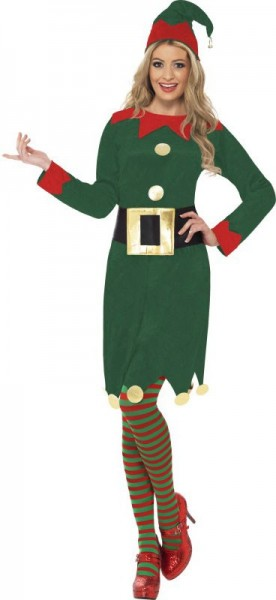 Disfraz de gnomo clásico para mujer verde