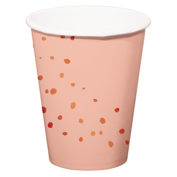 8 vasos para beber Elegant blush rose gold 350ml
