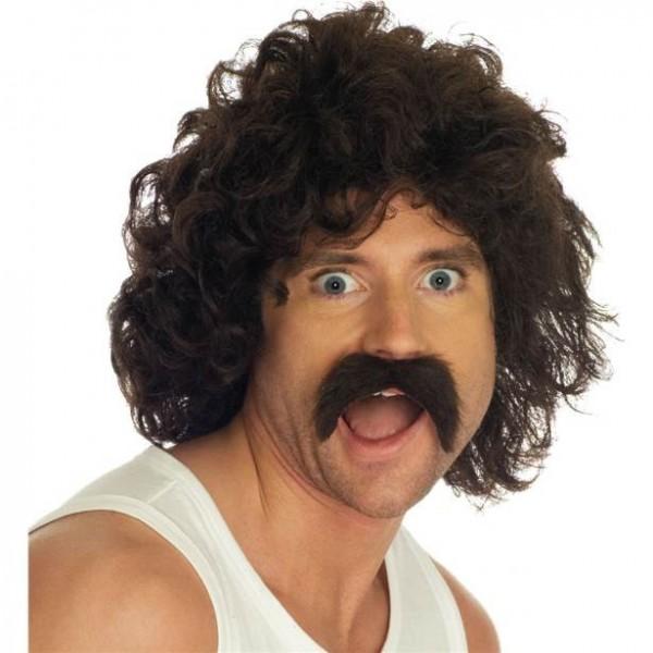 Perruque Benno des années 80 avec moustache