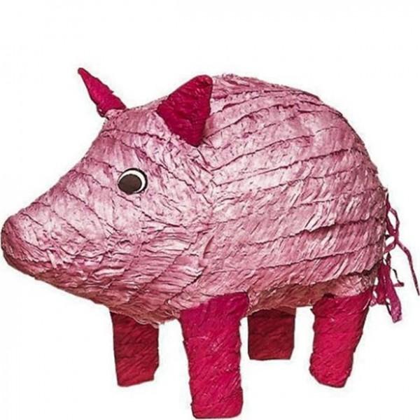 Piñata cerdito rosa 47cm