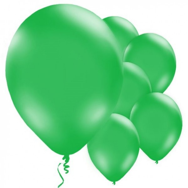 10 green balloons Passion 28cm