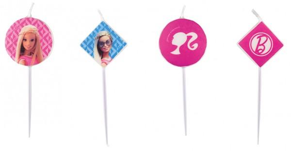 4 Barbie Fashionista Tortenkerzen