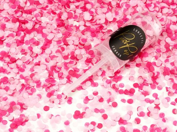 Canon à confettis partylover rose